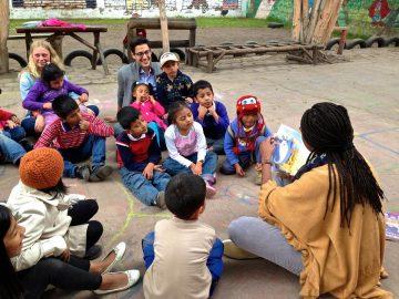 bénévolat avec des enfants